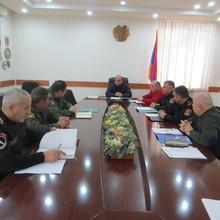 Մարզային զորակոչային հանձնաժողովի հերթական նիստը