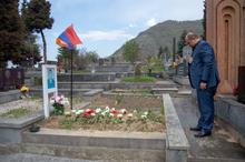 Հարգանքի տուրք Արցախյան պատերազմում զոհված ոստիկանների հիշատակին