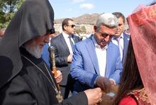 ՀՀ նախագահ Սերժ Սարգսյանը ներկա էր Բերդի նորակառույց  Սբ. Հովհաննես եկեղեցու օծման սրբազան արարողությանը