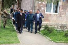 Տարածքային կառավարման և արտակարգ իրավիճակների նախարար Արմեն Երիցյանի այցը մարզի սահմանամերձ համայնքներ